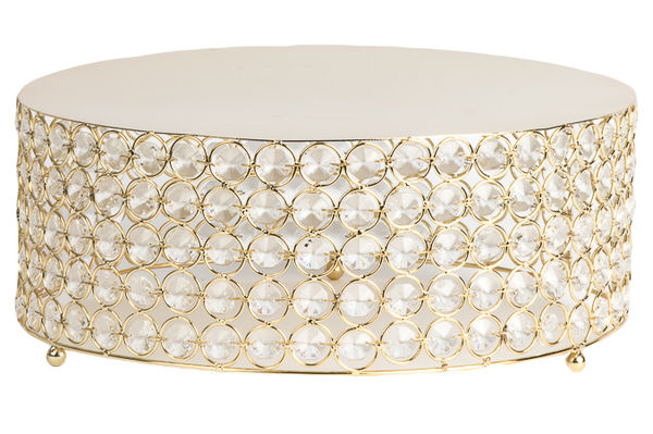 Crystal 14 Quot Round Cake Stand Something Borrowed Party