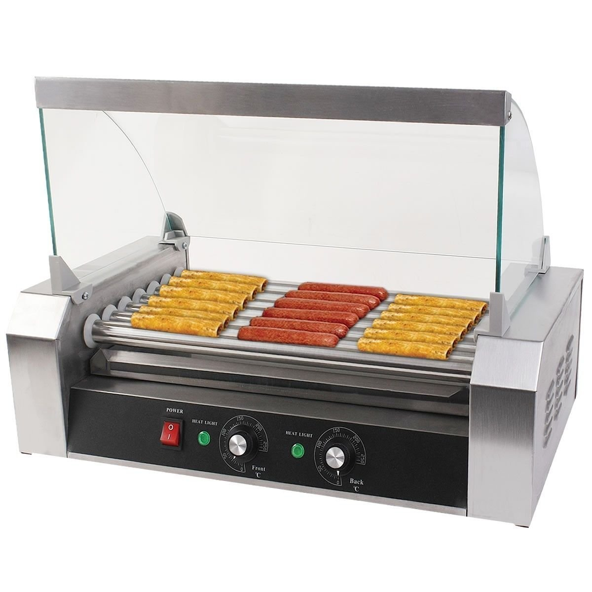 Hot Dog Roller Grilling Machine With Cover Something