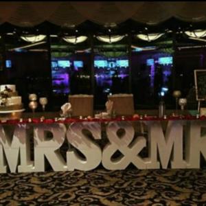 Mr & Mrs Letter Table