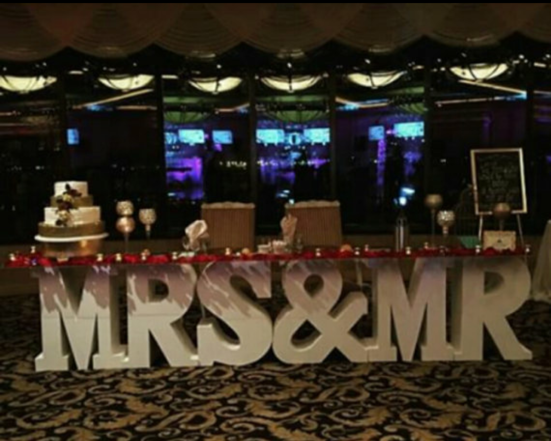 Mr Amp Mrs Letter Table Something Borrowed Party Rentals