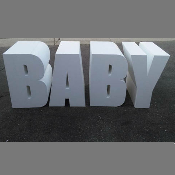 Baby Letter Table Free Standing Letters Something