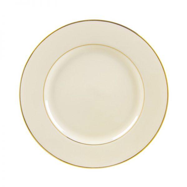 cream double gold dinner plate